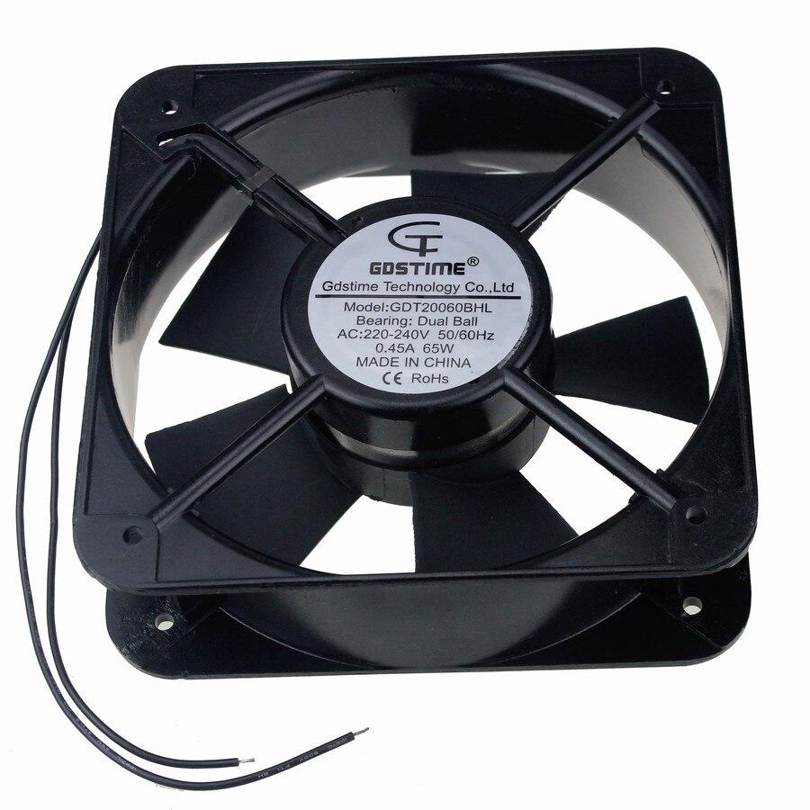 2 pièces Gdstime 200mm 200x60mm AC 220 V 240 V 20 cm ventilateur d'échappement industriel de refroidissement Axial