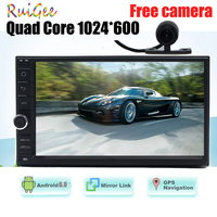 Android 7.1 2din non dvd Car gps Stereo In console 2Din Vehicle Radio Receiver 7'' GPS Navigation Multimedia External Microphone