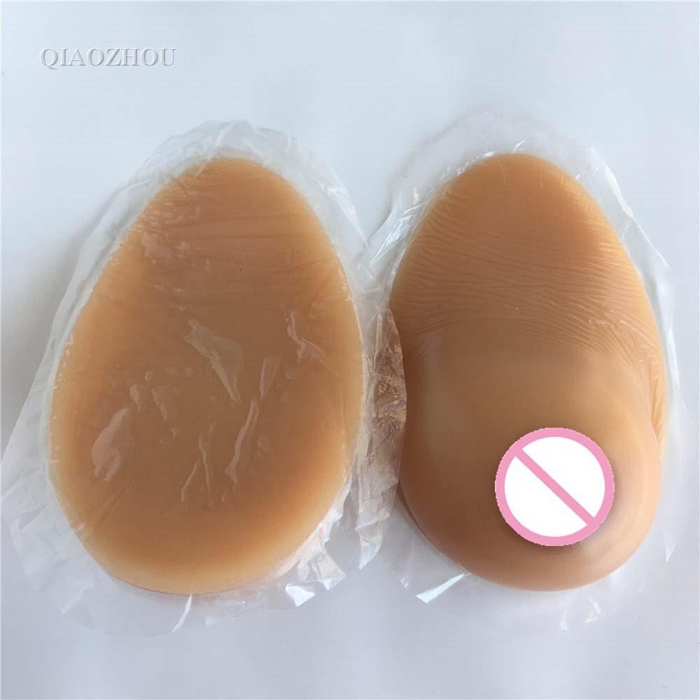 1 paar 1200g DD cup grote verzakking borst zelfklevende naakt skin tone met realistische tieten siliconen valse borsten op  Groep 3