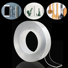 1/2/3/5m Nano Magic Tape Transparent Strong Acrylic Super Fix Reusable Waterproof Adhesive Double Sided Tapes