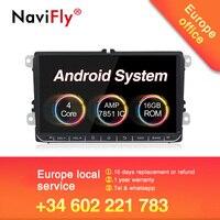 EU tax free!HD android 8.1 Car multimedia car radio GPS dvd player for Volkswagen SKODA GOLF 5 Golf 6 POLO PASSAT B5 B6 JETTA
