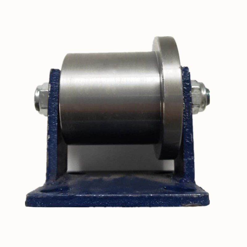 Rail V/T/H/Type Heavy Single-sided Pulley Cast Steel Thickened Angle Iron Square Light Rail Train Guideway Grooving Wheel