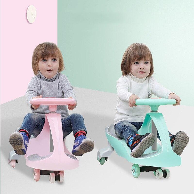 Enfants torsion voiture muet toboggan balançoire jouet voiture bébé Ride sur Yo-Yo voiture tour Wiggle jouet pour les enfants de 1-8 ans