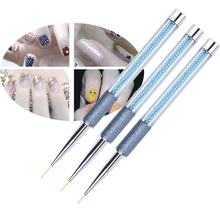 1 piece Nail Art Liner Drawing Brush Pen Rhinestone Handle Manicure Tool