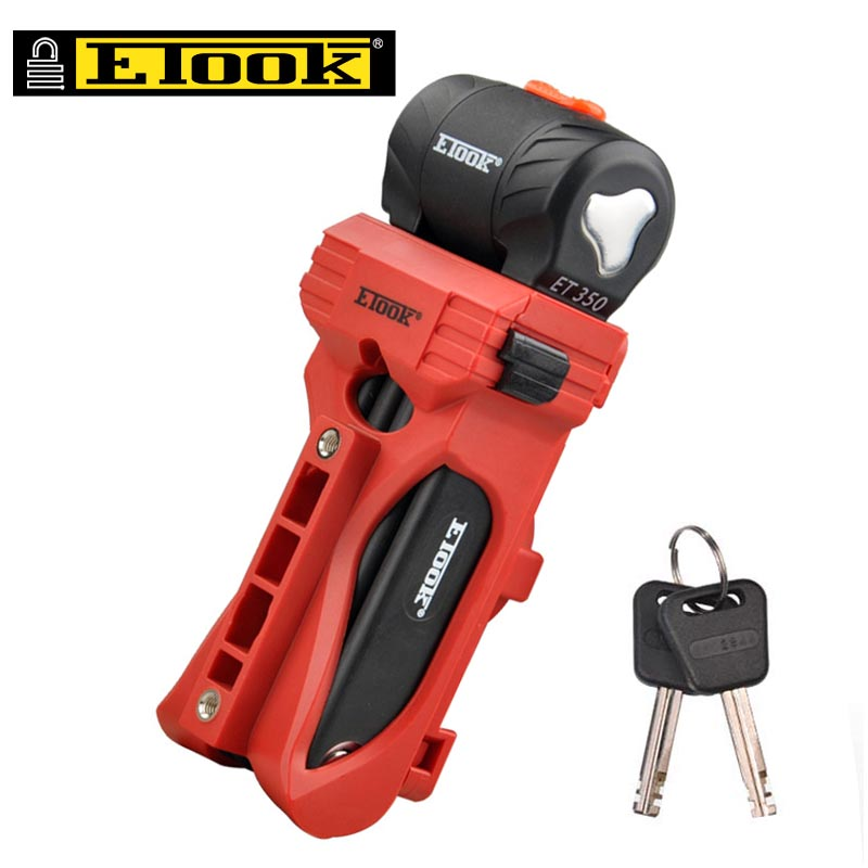ETOOK MTB Road Bicycle Chain Lock Aluminum Alloy Bike Security Anti-theft Lock Can be Placed Bottle Holder Cycling Accessories Замок
