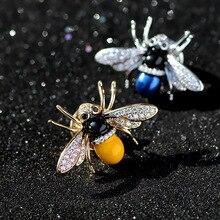Ziris Hoge kwaliteit broche Europa en Amerika Carton Bee vleugels geëmailleerd AAA Cubic Zirkoon broche ontworpen voor bruiloft