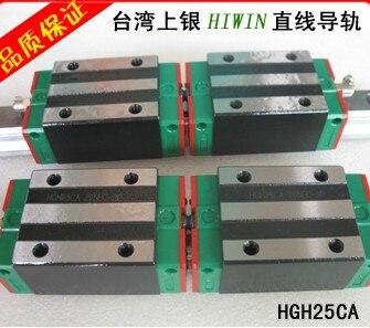 2pcs Hiwin linear guide HGR25-1000MM + 4pcs HGH25CA linear narrow blocks for cnc router hgr25 l 750mm hiwin linear guide rail with 2pcs blocks carriages hgh25ca cnc engraving router