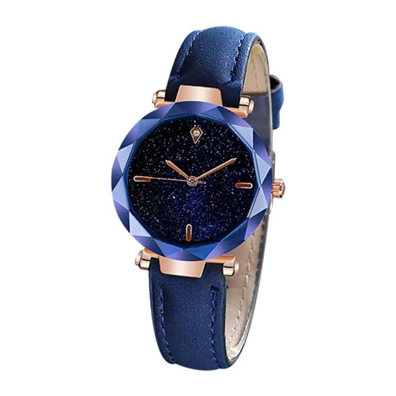 Роскошные женские часы с циферблатом звездного неба, разноцветные кожаные часы, женские повседневные кварцевые наручные часы для женщин, ...