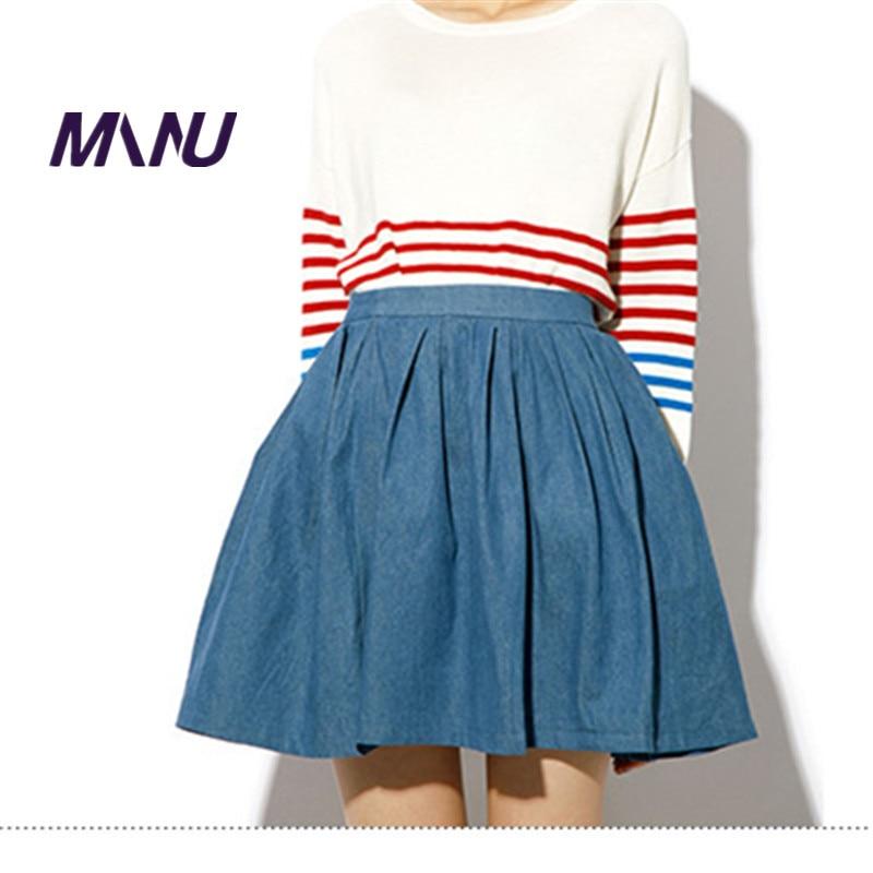 Popular Denim Pleated Skirt-Buy Cheap Denim Pleated Skirt lots ...
