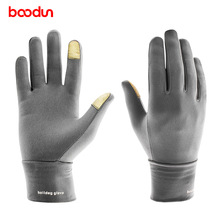 цены BOODUN Windproof Outdoor Sports Driving Running Hiking Gloves Winter Mittens Bicycle Bike Cycling Gloves For Men Women Glove