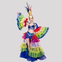2018 Samba Dance Stage Costume Costume Opening Dance Skirt Costume Performance Feather Atmosphere Clothing Dance Team Sexy