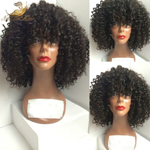 180 Density Brazilian Virgin Hair Afro Kinky Lace Front Wigs Glueless Human Hair Front Lace Afro
