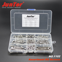 360pcs M3 (3mm) A2 Stainless Steel DIN912 Allen Bolts Hex Socket Head Cap Screws With Nuts Assortment Kit NO.1102