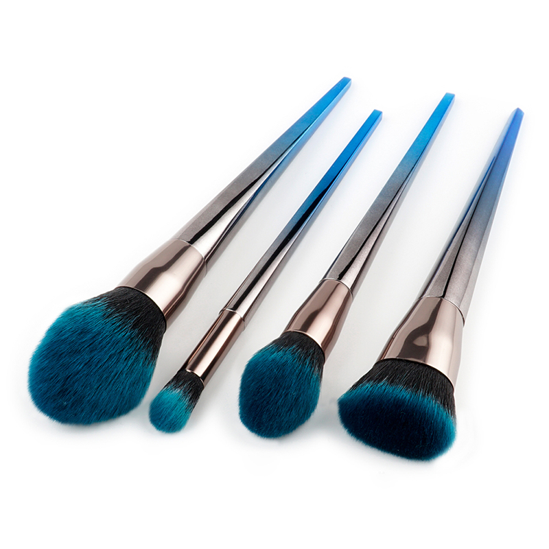 4pcs Makeup Brushes Flame-like Brush Nose Eyebrow Eyeshadow Stippling Brush Diamond Handle for Brushes Beauty Cosmetic Tool Kit стоимость