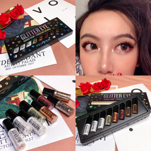 8PCS/SET Liquid Metallic Eyeshadow Palette Shimmer Glitter Diamond EyeShadow Pallete Pigment Creamy Makeup Cosmetic