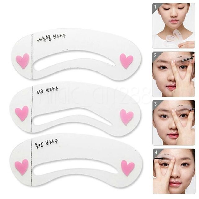 1 X Brand Magic Eye Brow Guide Templates Class Drawing Guide Eyebrow