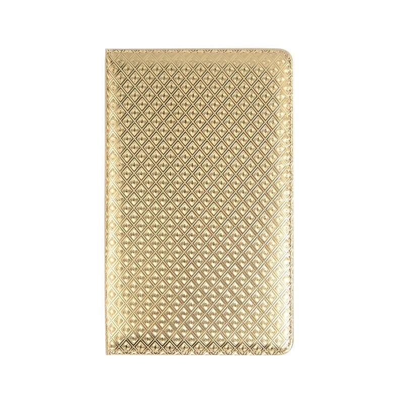 Luxury European Style Grid Pattern PU Leather Restaurant Table Menu Holder Cover Hotel Menu Folder Display Card