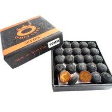 50 шт./лот, 10 мм, 11 мм, наконечники для снукера, коричневые с черным, высококачественные наконечники для кия, аксессуары для бильярдного снукера