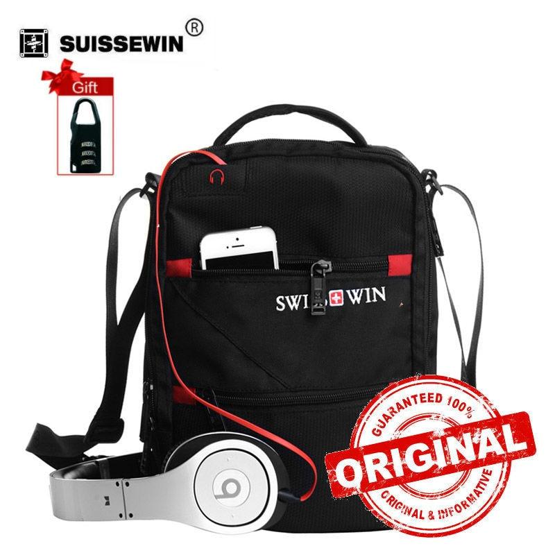 Swisswin Fashion Messenger Shoulder Bag Men Mini Crossbody Bag For Ipad Casual Oxford Messenger Satchel Music Bag Women SWE1025 casual canvas satchel men sling bag