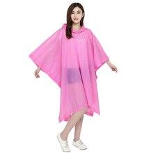 EVA Women Raincoat Thickened Waterproof Rain Coat Clear Transparent Camping Rainwear Suit