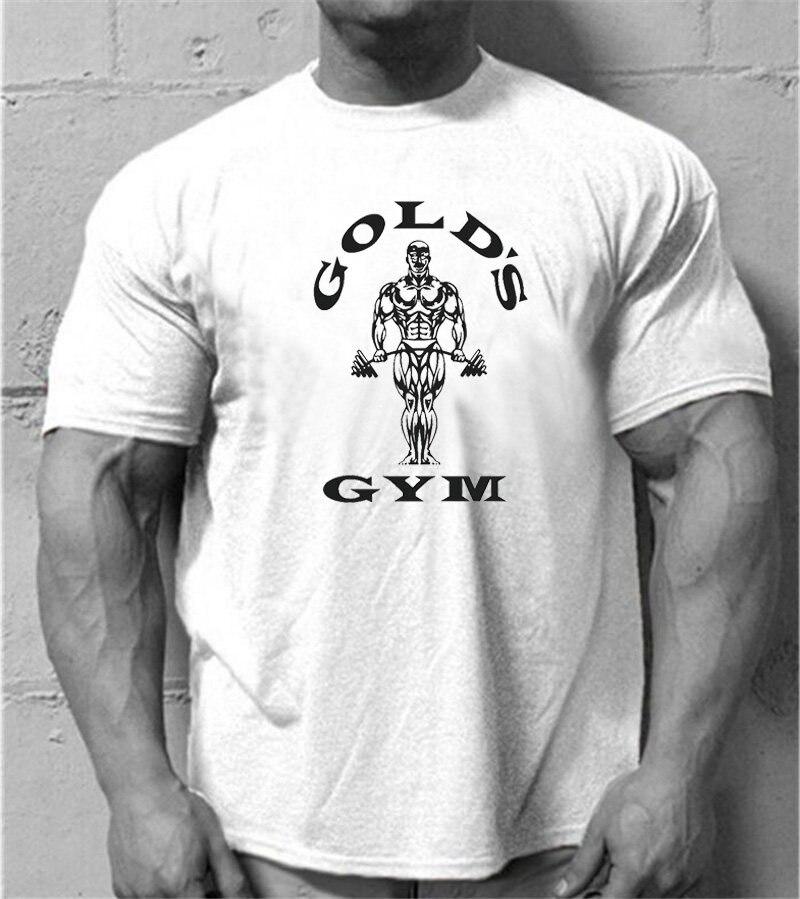 Muscleguys Roupas musculação aptidão t shirt homens O-pescoço t-shirt 100%  algodão c9542131145