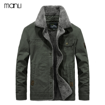 MANLI Outdoor Winter Bomber Jacket Men Air Force Pilot MA1 Jacket Warm Male fur collar Army Jacket tactical Mens Jacket Size 6XL