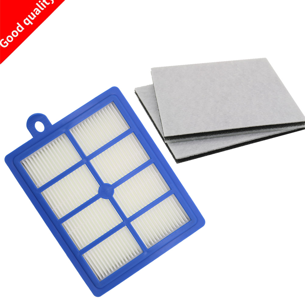 Washable 1PCS Dust Hepa Filter H12 H13+2PCS Motor Cotton Filter For Philips Electrolux AEG Vacuum Cleaner Replacement Parts
