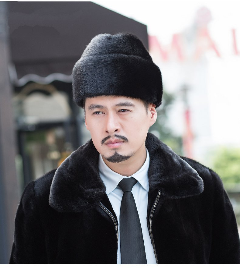 cb9c72f7d88306 Winter men Real New Mink Fur Hat Cap Headgear Beanie Beret QS022-in  Holidays Costumes from Novelty & Special Use on Aliexpress.com | Alibaba  Group