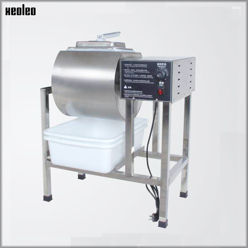XEOLEO 45L Marinator Machine Electric Meat Salting machine Pickles car Roll kneading machine with timer Stainless steel Maker stainless steel 35l meat salting marinated machine chinese salter machine hamburger shop fast pickling machine with timer 220v