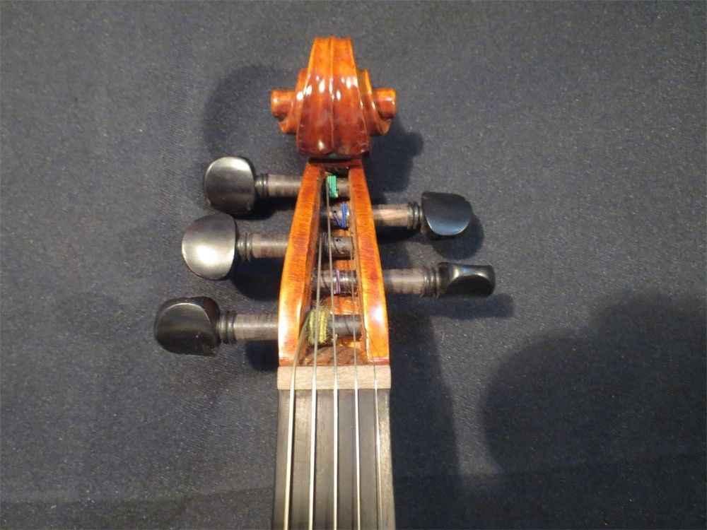 Барокко Стиль песня брена маэстро инкрустация кленовый лист кружева 5 струны для скрипки 4/4 #9630