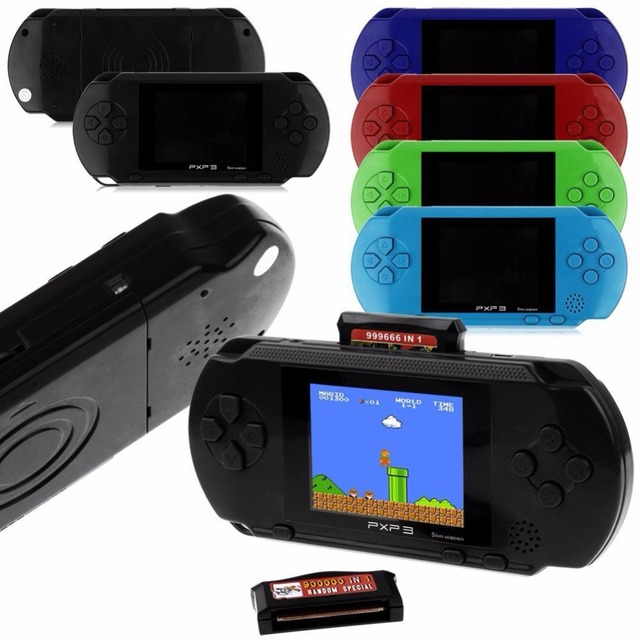 3 Inch 16 Bit PXP3 Slim Station Video Games Player Handheld Game +2 Pcs Free Game Card Console built-in 150 Classic Games