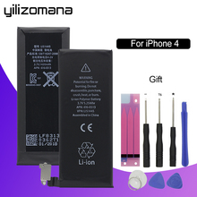 YILIZOMANA Original Mobile Phone Battery For Apple iPhone 4 4G Capacity 1420mAh Genuine Replacement Li-ion battery + Free Tools