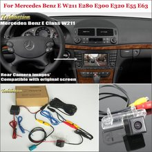 Back Up Inverso Della Macchina Fotografica Per Mercedes Benz E W211 E280 E300 E320 E55 E63-Auto Videocamera vista posteriore Set RCA & originale Dello Schermo