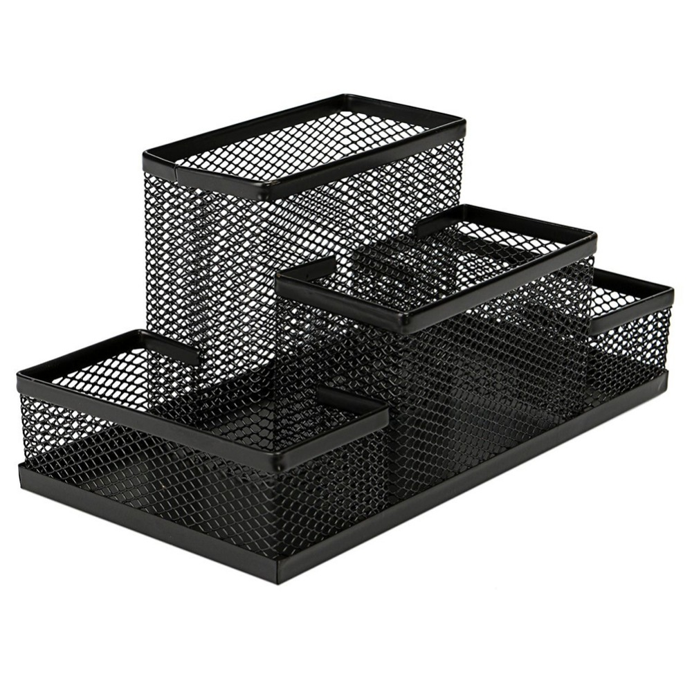 New Arrival Multifuction Black Cube Metal Book Stand Mesh Style Desk ...