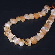 15.5/strand Natural Citrines Quartz Faceted Nugget Loose Beads,Cut Yellow Crystal Stone Pendants Charms Jewelry Making