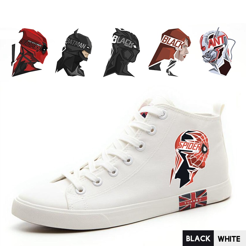 Men's Vulcanize Shoes Superhero Comic Spider-man/ant-man/deadpool High Top Breathable Canvas Uppers Sneakers Fashion Athletic Shoes A193291 Hot Sale 50-70% OFF