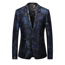 Free shipping Men's High quality casual printing leisure suit men Business blazer jacket Men's fashion single breasted blazers