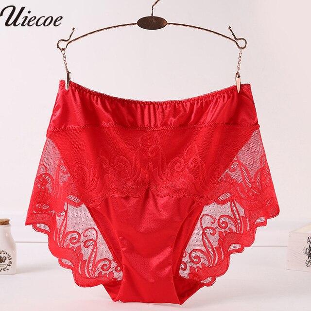 02e3e6c1c6d0 Plus Size Panties Women's Lace Lingerie Breathable Hollow Out Underwear  Sexy Full Transparent Hipster Panties Black 2XL 3XL 4XL