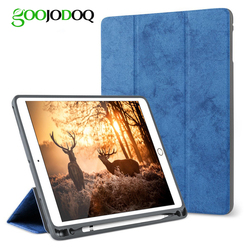 For iPad Pro 10.5 Case with Pencil Holder, GOOJODOQ Full Body Protective Shockproof Smart Cover for iPad Pro 10.5 inch Funda