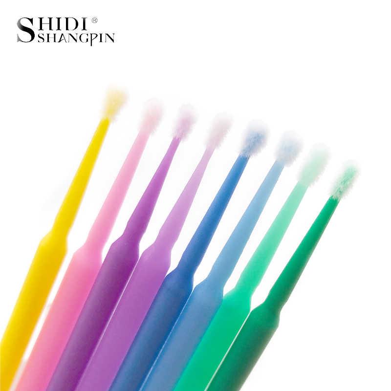 SHIDISHANGPIN 100 шт. Одноразовые Инструменты для наращивания ресниц, индивидуальная щетка для ресниц, аппликаторы, тушь, кисть, инструмент для макияжа