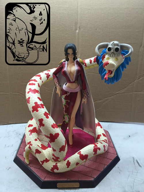 MODEL FANS IN-STOCK One Piece POP Boa Hancock snake gk resin toy Figure for Collection(only snake and base) pop figurine collection toy figure model doll