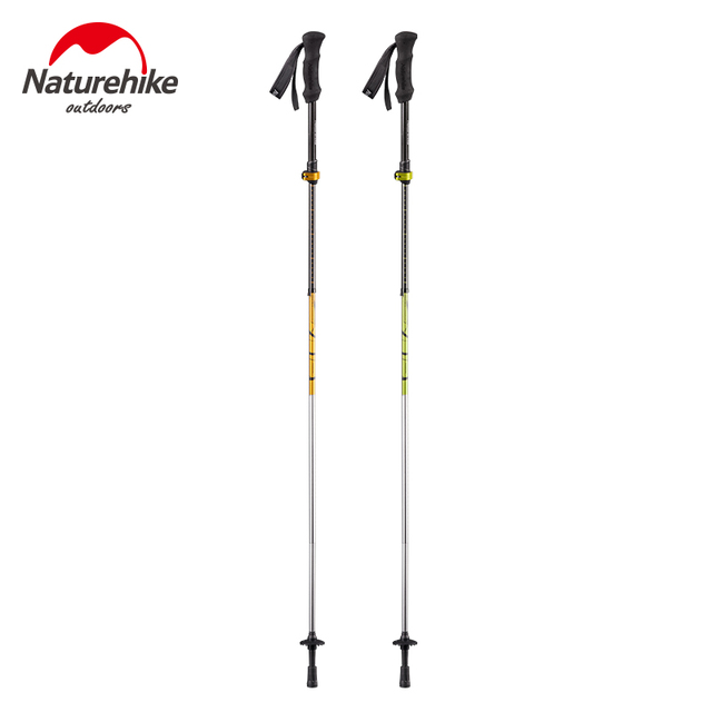 NatureHike 5 Section Ultralight Walking Sticks Carbon Fiber Cork Adjustable Trekking  Poles Hiking Stick Outdoor
