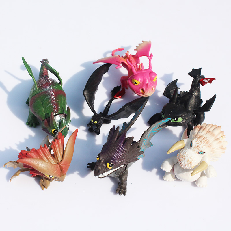 retail 7pcs set full set movie how to train your dragon 2 pvc action figures night fury. Black Bedroom Furniture Sets. Home Design Ideas