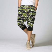 Hombres Leggings algodón Pantalones de chándal corto Loose baggy Pantalones  harem Militar estilo camuflaje hip hop verano Pantal. 5fe7d8bdcd0