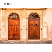Laeacco Old Wall Fade Arch Doors Photography Backgrounds Customized Photographic Backdrops For Photo Studio