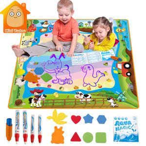 100*100CM Aqua Magic Water Drawing Mat Water Pen Drawing Board Coloring Water Painting Games Educational Toys Kids Craft