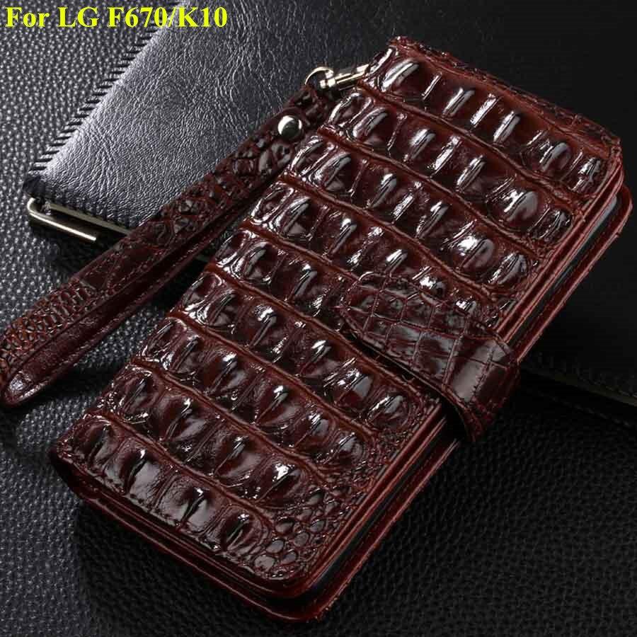 imágenes para Para LG K10 F670 fundas de cuero titular de la tarjeta caso de la cubierta para LG F670 K10 teléfono multifunción caso de la cubierta tirón de la carpeta