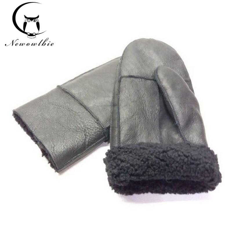 Зимни работни ръкавици мъжки ръкавици от естествена кожа естествени кожени ръкавици за мъже зимни топли топки с дебели ръкавици  t