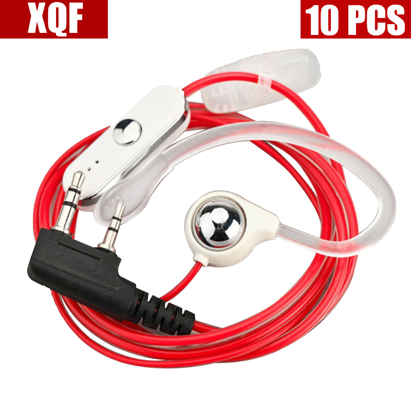 XQF 10PCS  NEW!Hot Selling Earpiece For BAOFENG UV-5R 888S B5 B6 Two Way Radio For KENWOOD Walkie Talkie