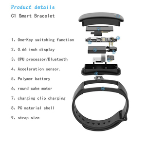 Image 5 - Braccialetto di salute di Misurazione della Pressione Arteriosa Banda Intelligente Inseguitore di Fitness Orologio Digitale per il iphone xiaomi pk fitbits honor fascia 4